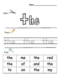 First 30 Fry Sight Words Color, Trace and Find