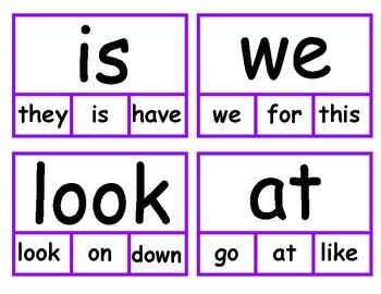 "First ""30"" Sight Words - Clip Cards"