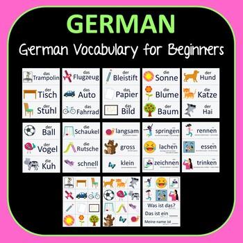 First 30 Words in German Learn German Vocabulary for Beginners Preschool Kindy