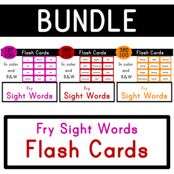 First 300 Fry Sight Words - Flash Cards - Bundle