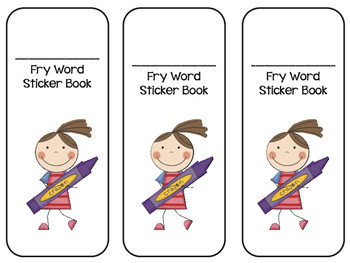 Fry Words Sticker Book- First 300 Words