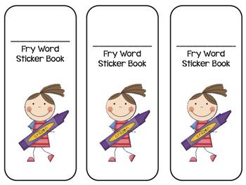 Fry Words Sticker Book- First 300 Words