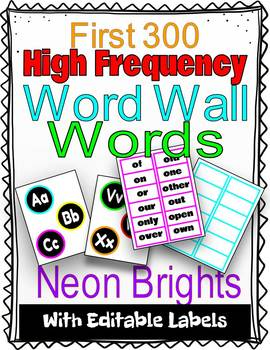 First 300 High Frequency Word Wall Words