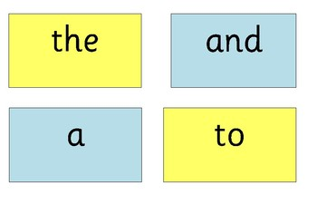 First 300 High Frequency Words: Flash Cards and Display