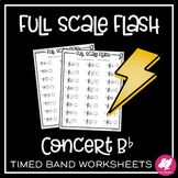 Concert Bb Scale | Speed Note Naming | Full Scale Flash Worksheets