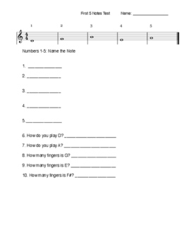 First 5 Notes