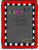 #DOLLAR DEALS--First 50 Sight Word: Read, Stamp, and Write and Spelling Practice