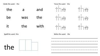 First 50 sight words workbook