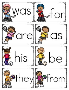 First 50 sight words in Flashcards