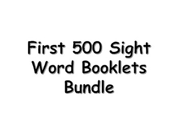 First 500 Fry Sight Words