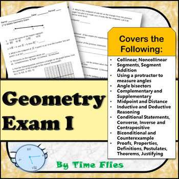 Geometry Exam 1 - Covers Units 1 - 3
