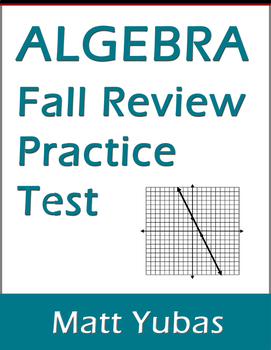 Algebra 1 Fall Review Practice Problems