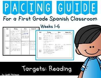 First 6 Weeks of School Reading Pacing Guide *Spanish*