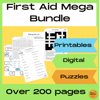 First Aid Worksheets and Activities Bundle