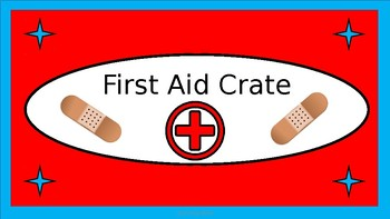 First Aid Crate Label - Dr. Seuss Tribute Colors - with Clipart