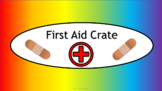 First Aid Crate Label - Noah's Rainbow - with Clipart