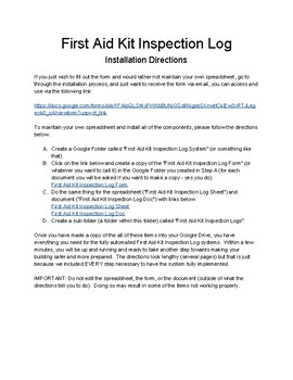 First Aid Kit Inspection Log System