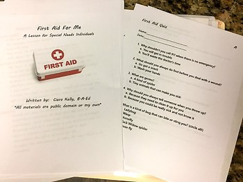 First Aid Lesson for Special Education Students