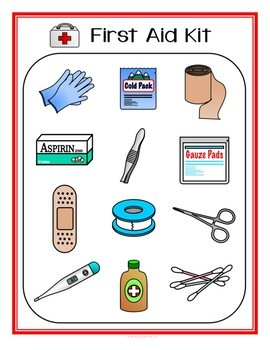 First Aid Life Skill File Folders for Special Education