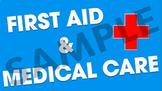 First Aid & Medical Care Power Point Presentation & Worksheet Bundle