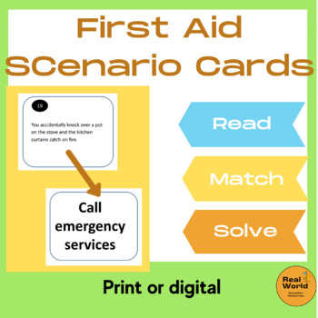 First Aid Quiz Task Cards