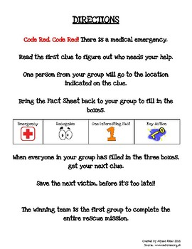 First Aid Scavenger Hunt