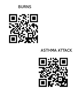First Aid Scavenger Hunt - Fact Sheet QR Codes