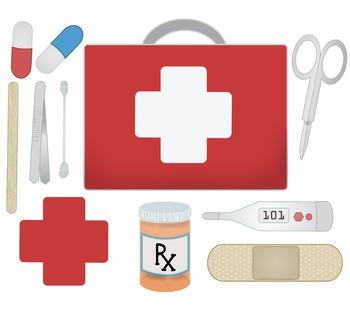 First Aid Tools Clip Art
