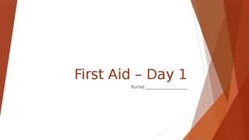 First Aid Unit Plan - Day 1 Student Copy