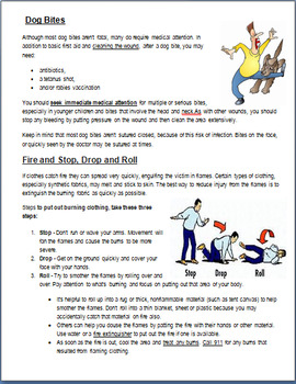First Aid- Urgent and Emergency Medical Issues- 3 activities