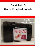 First Aid and Book Hospital Labels