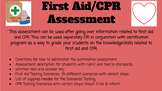 First Aid and CPR Summative Assessment