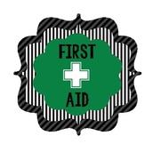 First Aid bucket label Teamwork themed