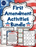 First Amendment Activities Bundle- Gallery Walk, Task Cards, puzzles & more