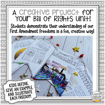 First Amendment Banner Project | Bill of Rights Creative Project for Civics!