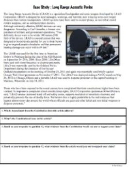 1st Amendment Current Event Case Studies - Common Core Ready