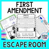 First Amendment ESCAPE ROOM: 1st Amendment of the U.S. Constitution