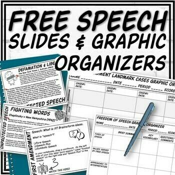 First Amendment (Free Speech) PowerPoint & Guided Notes