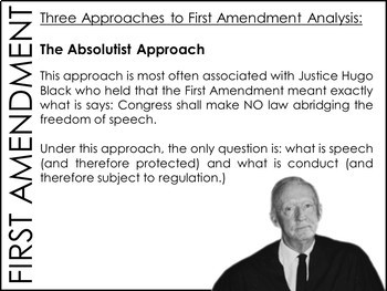 First Amendment (Free Speech) PowerPoint & Guided Notes