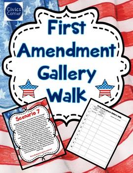 First Amendment Gallery Walk Activity- Freedom of speech, press, etc.