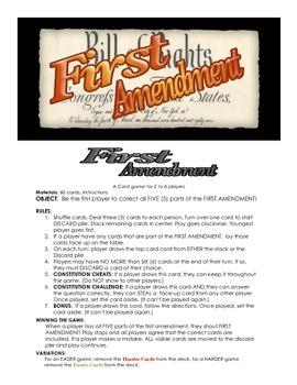 First Amendment Game!