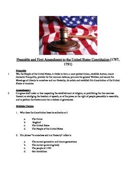 First Amendment - Informational Text Test Prep