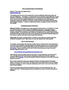First Amendment Issues in K-12 Education: Free teacher professional development