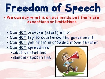 First Amendment PowerPoint with Interactive Learning Checks - Freedoms