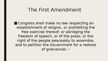 First Amendment- Press safety PPT