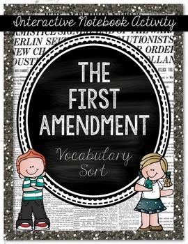 First Amendment Sort {Social Studies Interactive Notebook}
