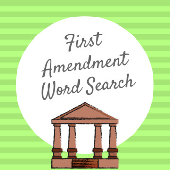 First Amendment WORD SEARCH