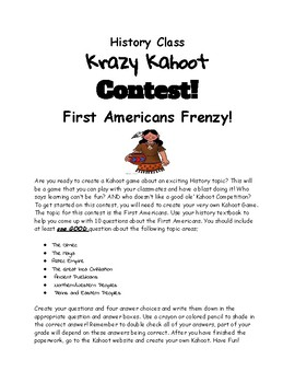 First Americans Kahoot Frenzy