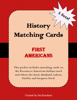 First Americans (American Indian Resources and Tribes) Matching Cards Review