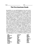 First Americans (natives, iroquois, maya, inca, etc) word search